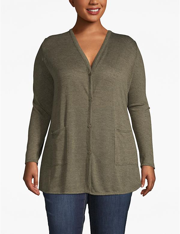 V-Neck Tunic Cardigan