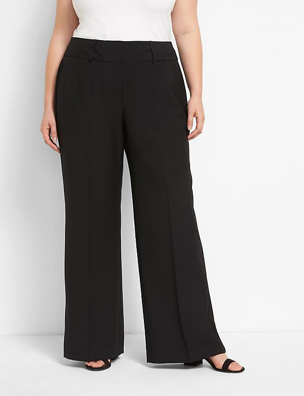 Signature Fit High-Rise Wide Leg Allie Pant - Tailored Stretch