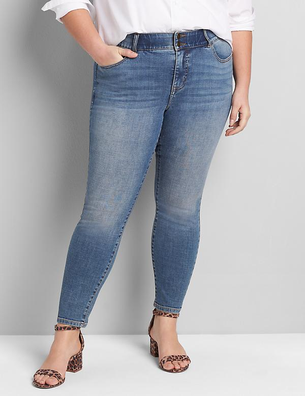 Lane Essentials Venezia High-Rise T3 Skinny Jean - Vintage Wash