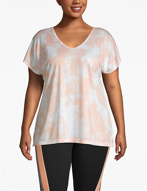 Active Strappy-Back Tie-Dye Tee