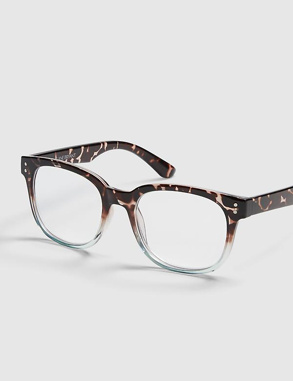 Tortoise Print Square Reading Glasses