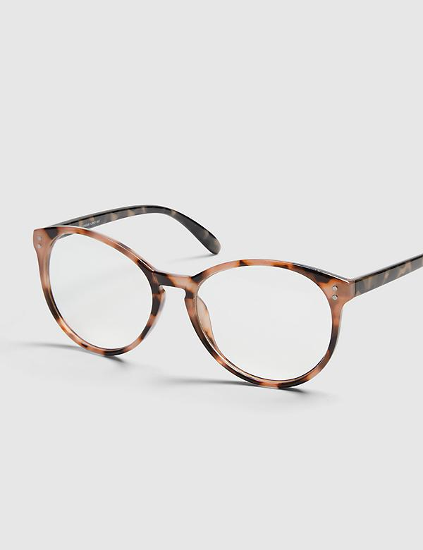 Tortoise Print Round Reading Glasses