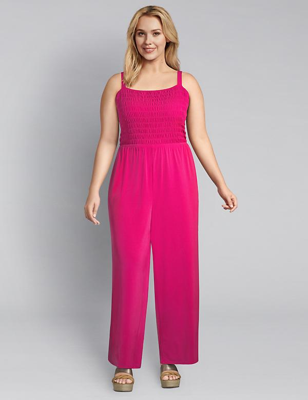 Knit Kit Shirred Jumpsuit