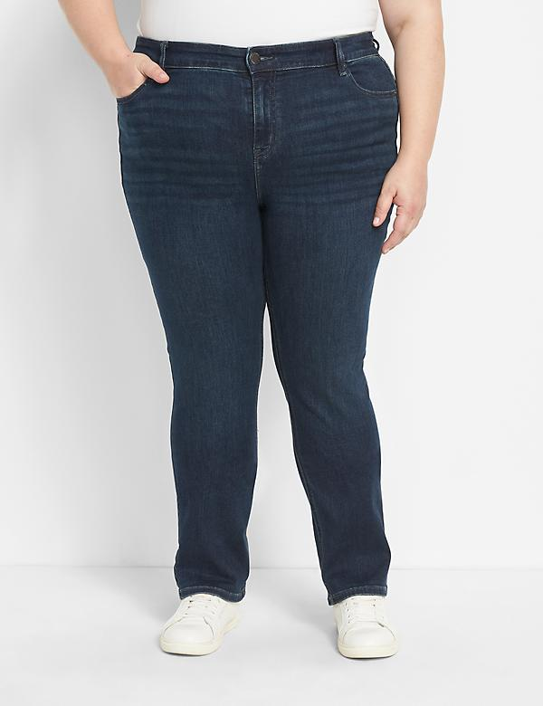 Deluxe Fit High-Rise Straight Jean - Dark Wash