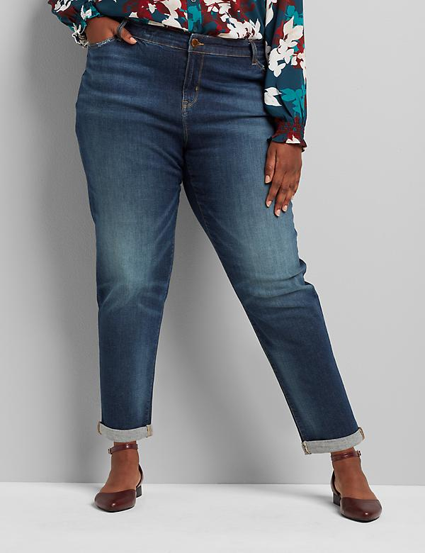 Signature Fit Boyfriend Jean - Dark Wash