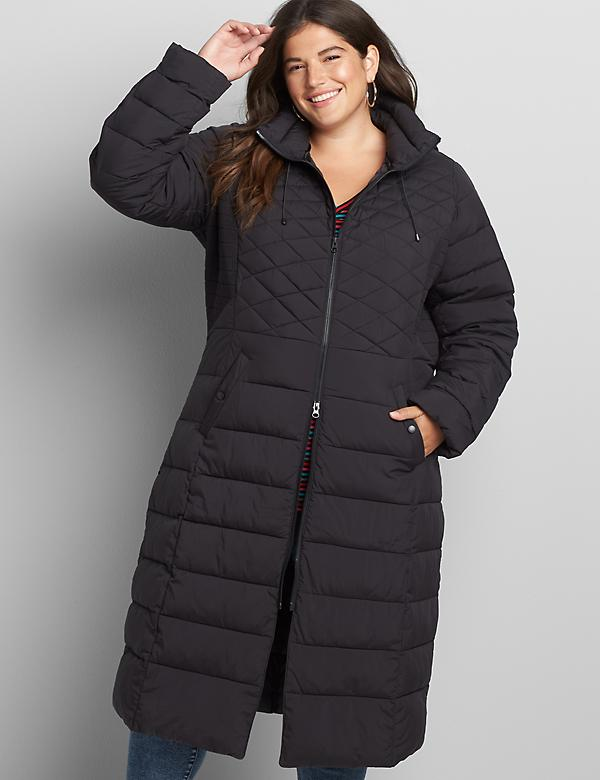 Maxi Hooded Puffer Coat