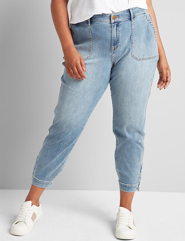 Signature Fit Boyfriend Jogger Jean - Light Wash