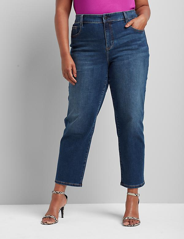 Signature Fit High-Rise Girlfriend Straight Jean - Dark Wash