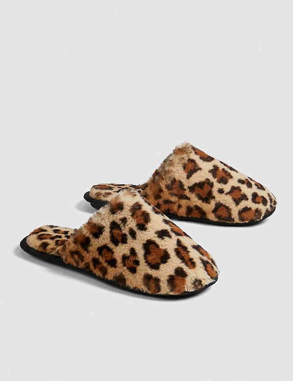 Faux-Fur Slide Slipper