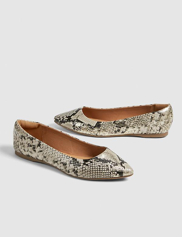 Dream Cloud Snake Print Ballet Flat