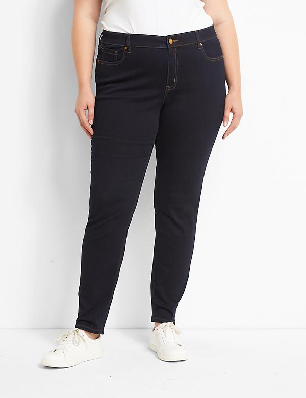 Signature Fit Sateen Skinny Jean - Dark Wash