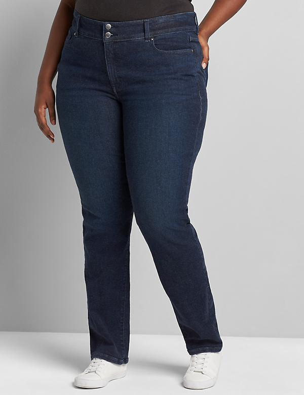 Tighter Tummy Fit High-Rise Straight Jean - Dark Wash
