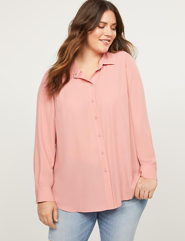 Button-Front High-Low Tunic