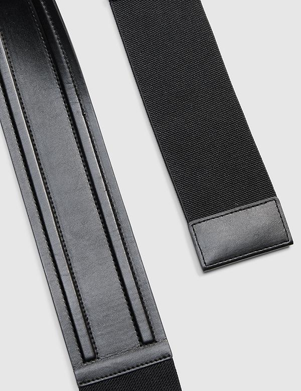 Snap-On Faux-Leather Belt
