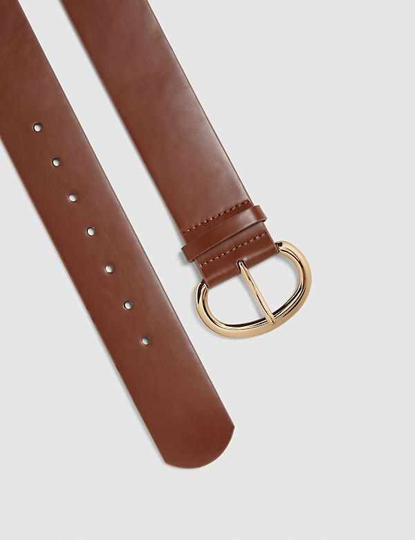Brown Sweater Stretch Belt
