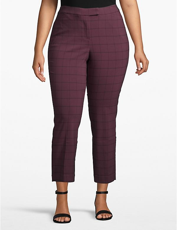 Lane Essentials Madison Ankle Pant - Plaid