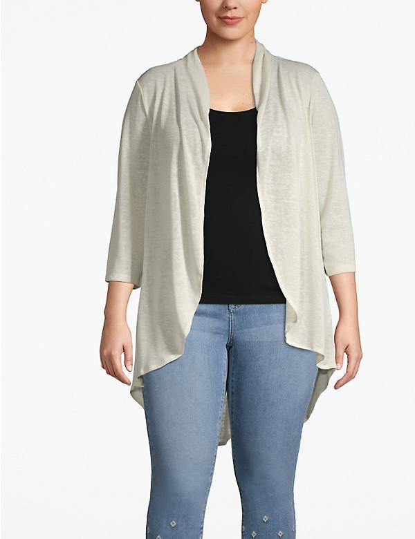 Cozy Touch Drape-Front Cardigan