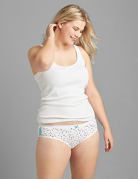 Cotton Hipster Panty With Lace Trim