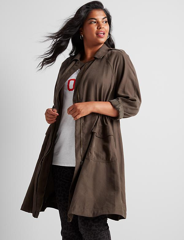 Twill Utility Duster Jacket