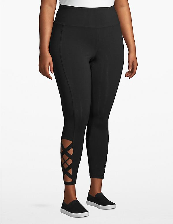 Active 7/8 Legging - Crisscross Hem