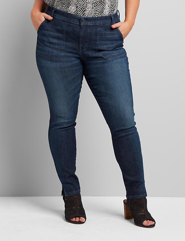 Signature Fit Skinny Jean - Dark Wash With Patch Pockets