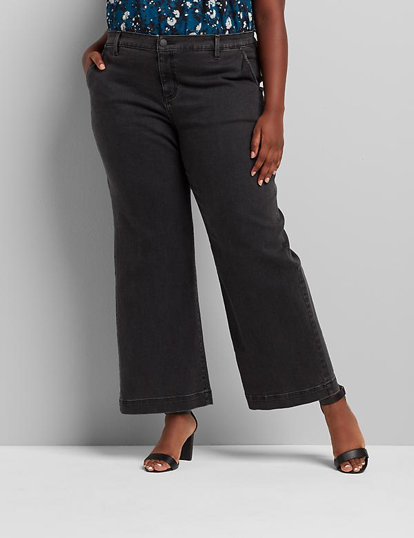 Signature Fit High-Rise Trouser Jean - Faded Black