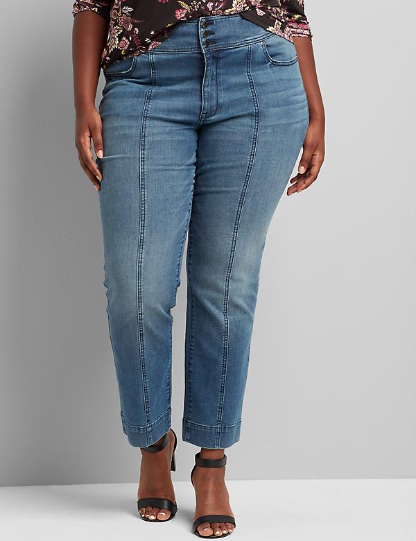 Signature Fit High-Rise Straight Jean - Seam Detail