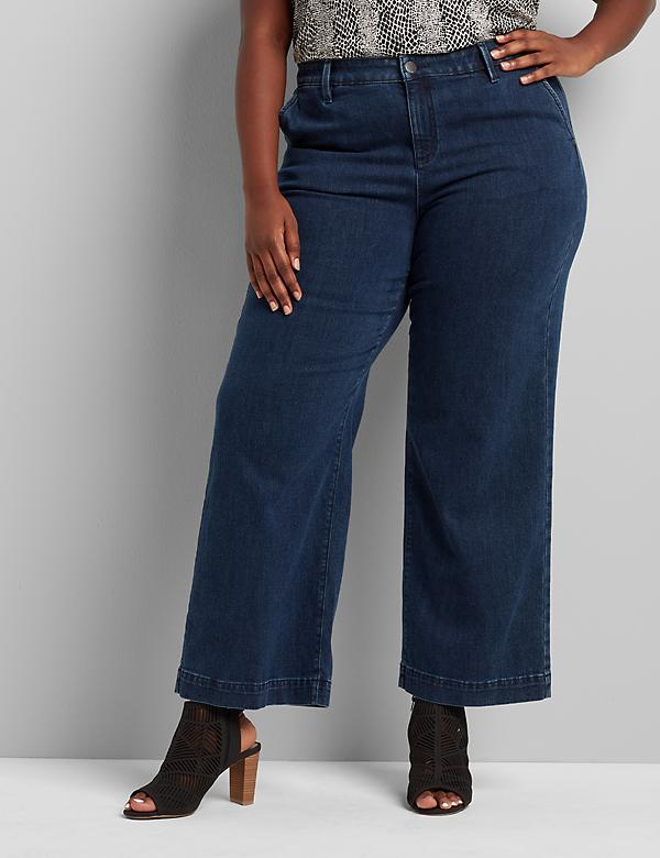 Signature Fit High-Rise Trouser Jean - Dark Wash