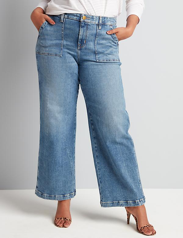 Signature Fit Wide Leg Jean - Medium Wash