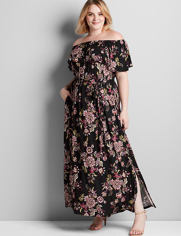 Convertible Paisley Maxi Dress