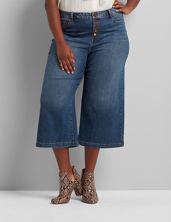 Signature Fit Wide Leg Crop - Exposed Button Fly