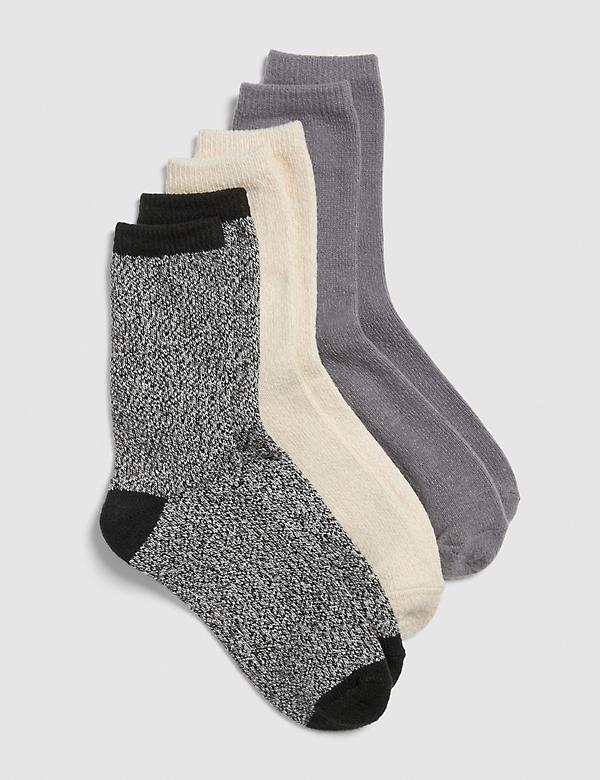 Boot Socks 3-Pack - Black & Cream