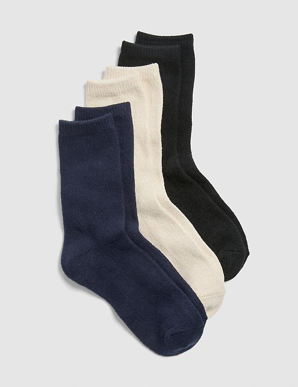 Boot Socks 3-Pack - Navy, Black & Cream