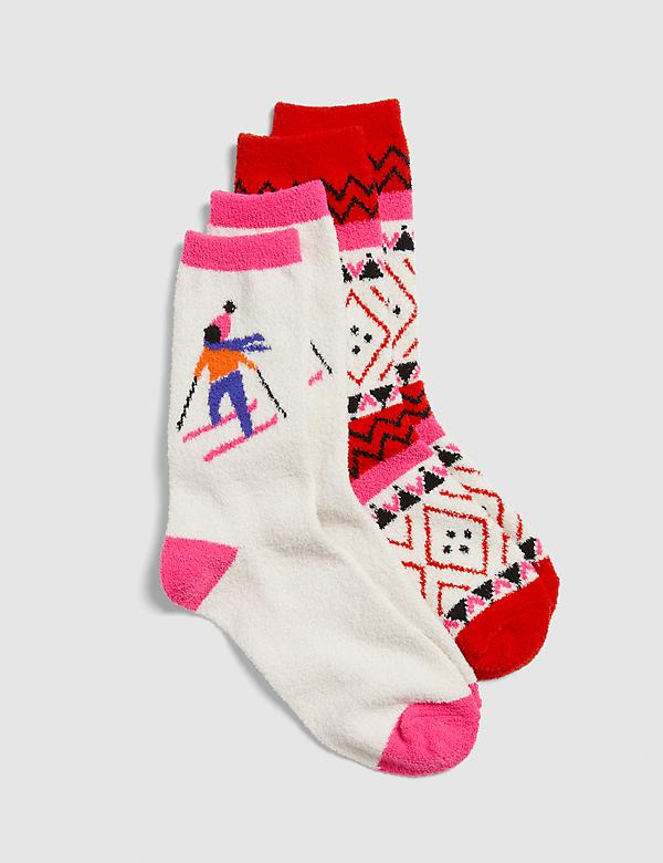 Apres Ski Cozy Crew Socks - 2-Pack