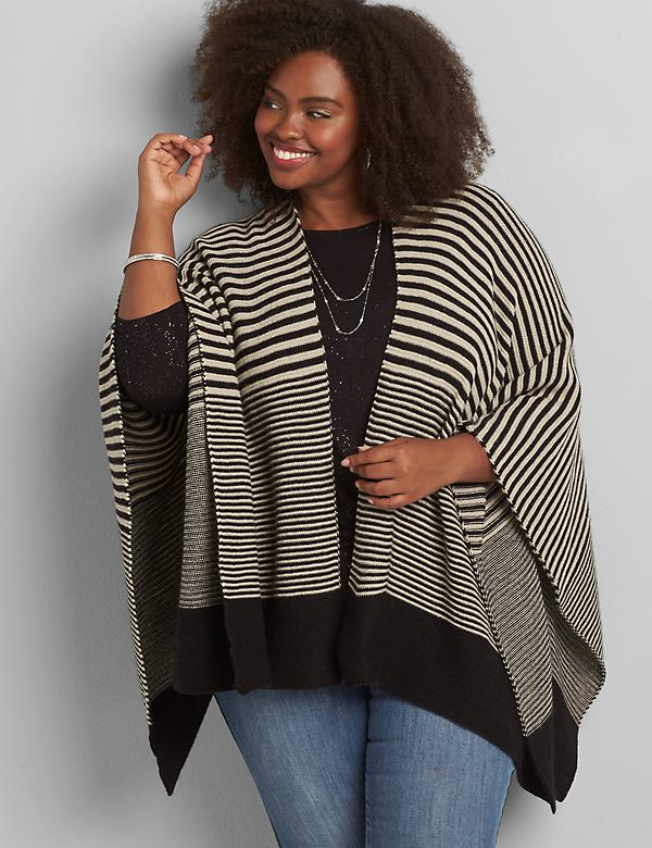 Wrap-Style Poncho Overpiece