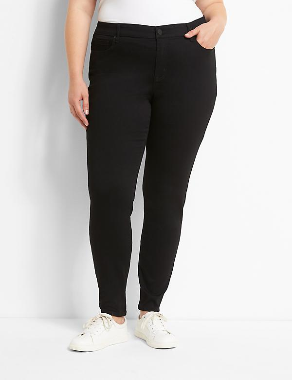 Signature Fit Sateen Skinny Jean - Black