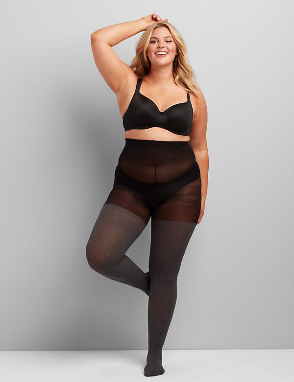 Smoothing Tights - Heather Gray
