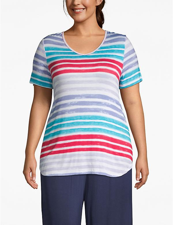 Active Strappy-Back Striped Tee