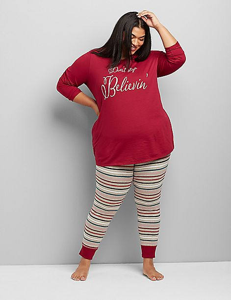 Long-Sleeve Tee & Legging PJ Set