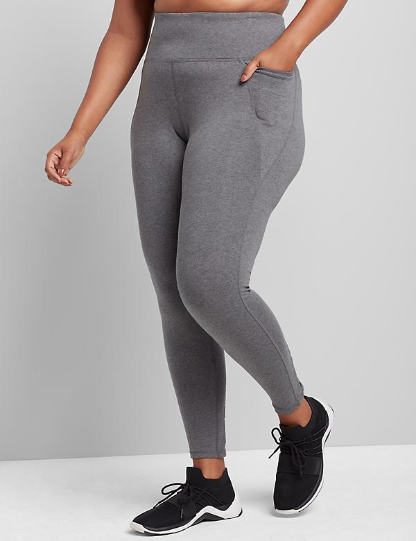 LIVI 7/8 Power Legging With Wicking - Strappy Hem