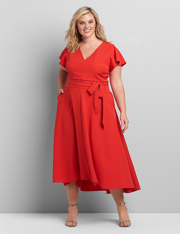 Lena High-Low Midi Dress