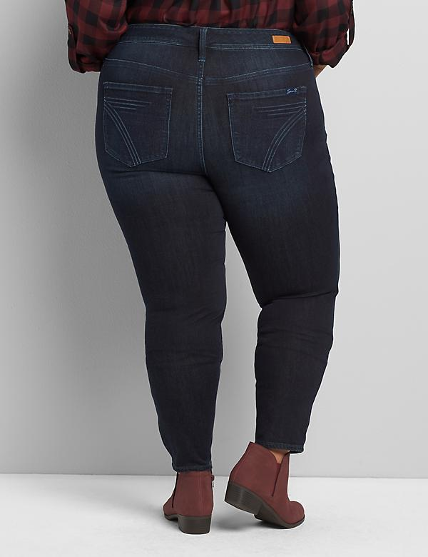 Seven7 Low-Rise Skinny Jean - Dark Wash