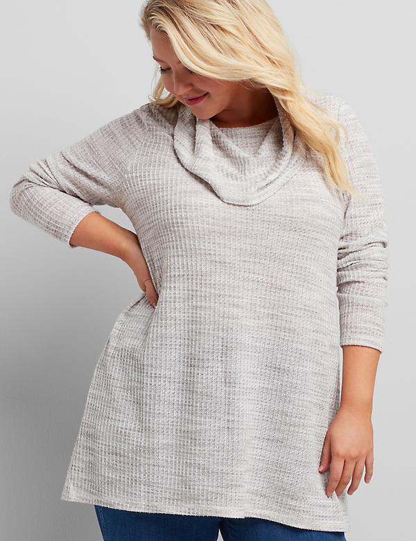 Cowl-Neck Subtle Swing Tunic
