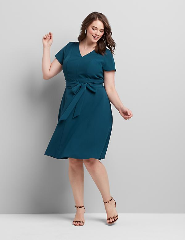 Short V-Neck Lena Dress
