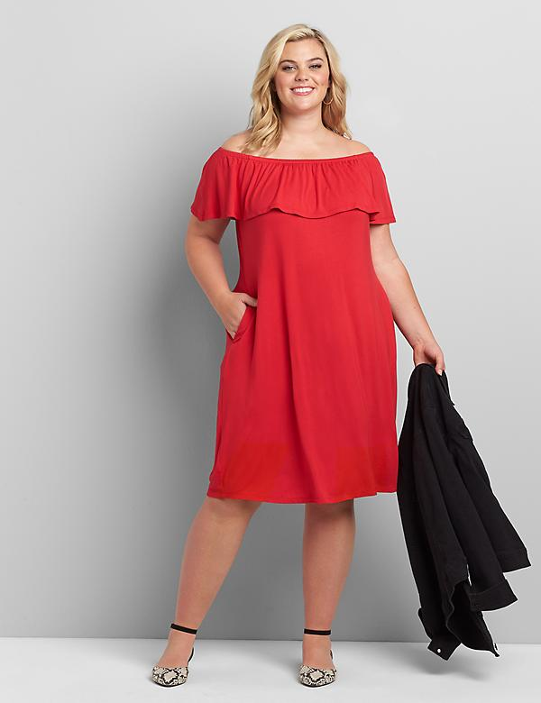 Multi-Way Off-The-Shoulder Swing Dress