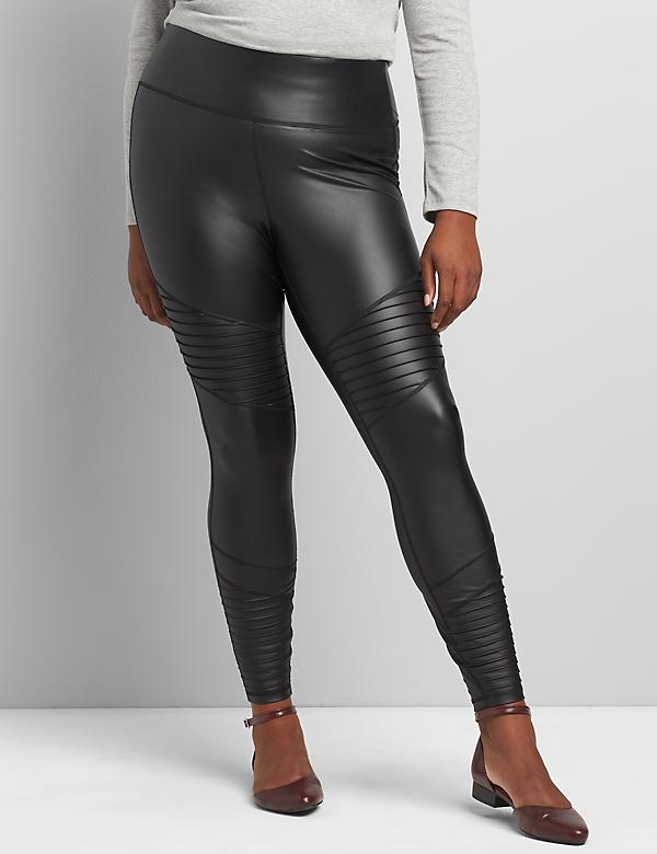 LIVI 7/8 Power Legging - Faux Leather