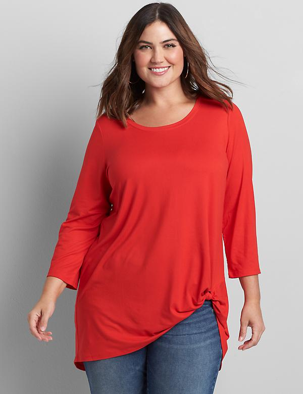 Side-Knot Tunic Top