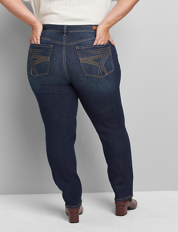 Seven7 Low-Rise Straight Jean - Dark Wash