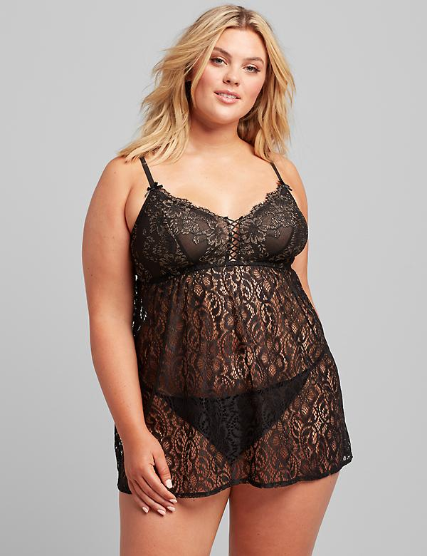 Lace No-Wire Babydoll