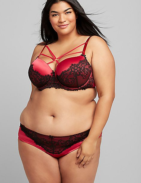 Satin & Lace Boost Balconette Bra
